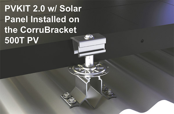Corrugated Rail-less Solar Roof Attachment