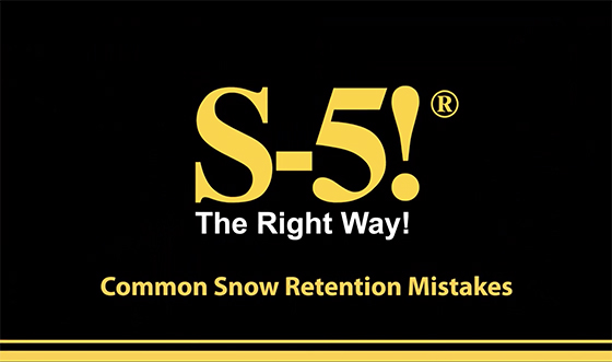 Common Snow Retention Mistakes